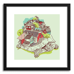 hide - Art print Tur Town by artist Yoshi Andrian on fine art paper