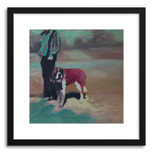hide - Art print 10 St Bernard by artist Mary Sinner in natural wood frame