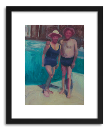 Fine art print 09 Couple By Pool by artist Mary Sinner