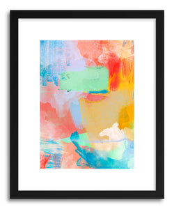 hide - Art print Colorwaves by artist Ayanna Winters in natural wood frame