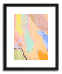 hide - Art print Fisheyed by artist Ayanna Winters in white frame