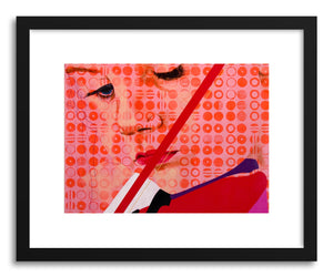 hide - Art print Frackles by artist Dina Levy in white frame
