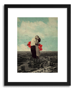 hide - Art print Never Forever by artist Frank Moth in white frame
