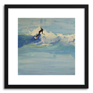 Fine art print Pillars Point Shortboarder by artist Annie Seaton