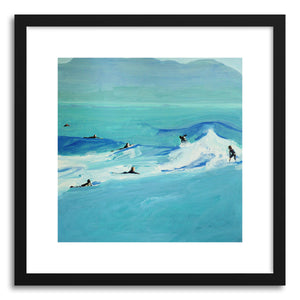 hide - Art print Slick Multisurfers by artist Annie Seaton in white frame