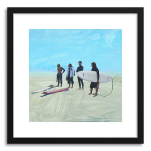 hide - Art print Surfgang Venicebeach by artist Annie Seaton in natural wood frame