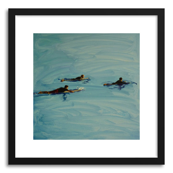 Fine art print Three Surfers Malibu by artist Annie Seaton