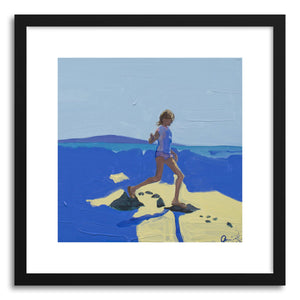 hide - Art print Violet Tidepools II by artist Annie Seaton in white frame