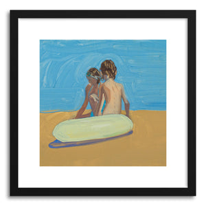 hide - Art print Violet& Zack Innertube by artist Annie Seaton on fine art paper