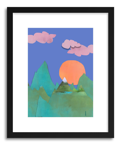 Fine art print Green Mountains by artist Jacquie Gouveia