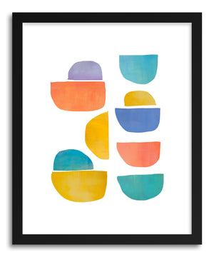 Fine art print Happy Shapes by artist Jacquie Gouveia