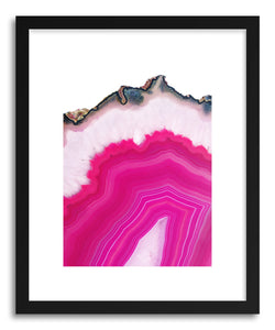 hide - Art print Pink Agate Slice by artist Emanuela Carratoni in white frame
