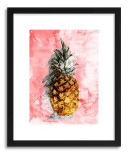 hide - Art print Pink Summer by artist Emanuela Carratoni in natural wood frame
