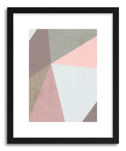 hide - Art print Delicate Geometry by artist Emanuela Carratoni in white frame