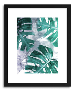 hide - Art print Monstera Theme No.1 by artist Emanuela Carratoni in natural wood frame