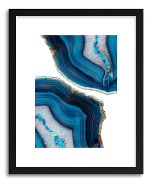 Fine art print Blue Agate by artist Emanuela Carratoni