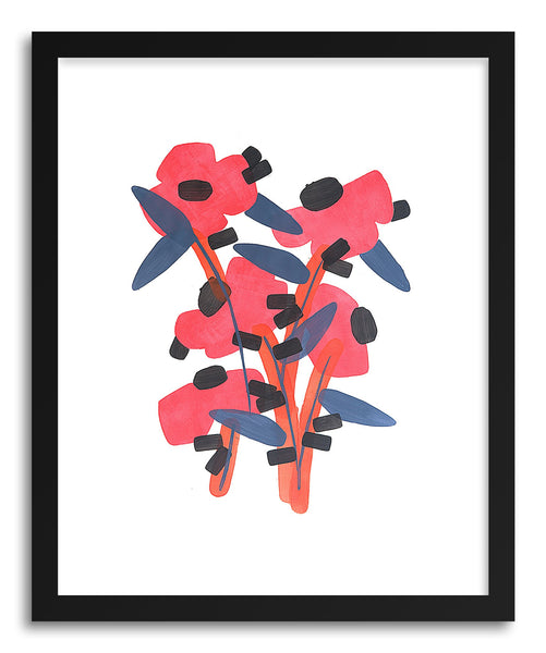 Fine art print Poppy Bouquet by artist Rebekka Connelly