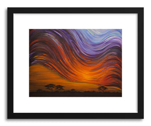 Fine art print African Sunset No.2 by artist Joanne Kim