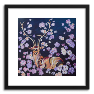 Fine art print Deer In Flowers by artist Joanne Kim