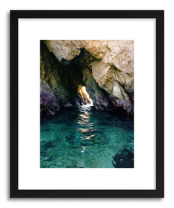 Art print Colorful Ocean Arch by artist Kevin Russ in black wood frame
