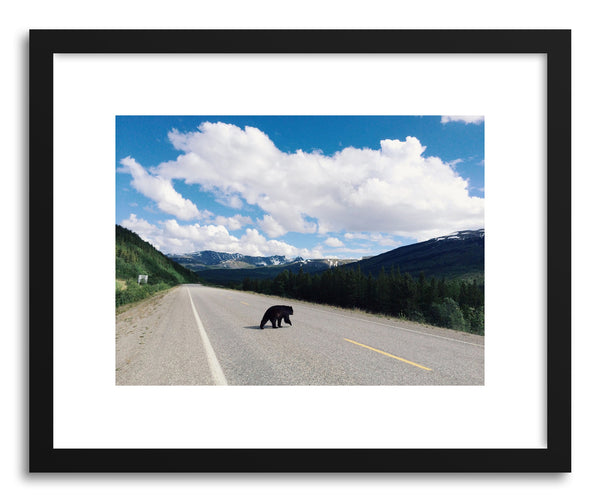 Fine art print Alaska Bear Crossing by artist Kevin Russ