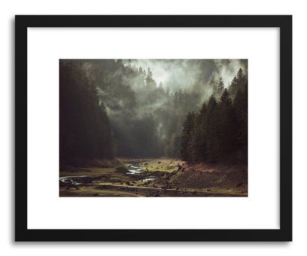 Fine art print Foggy Forest Creek by artist Kevin Russ