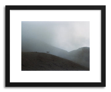 Fine art print Foggy Mountain Reindeer by artist Kevin Russ