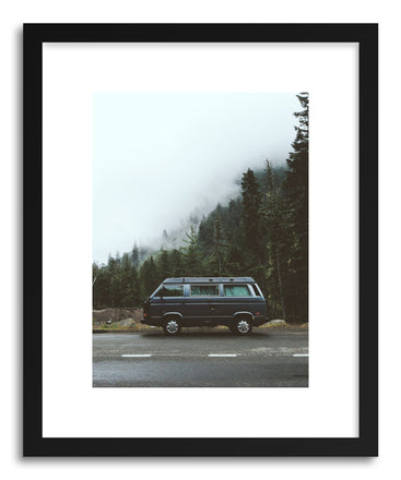 Fine art print Foggy Vanlife by artist Kevin Russ