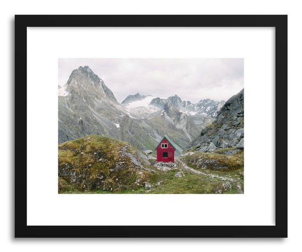 Fine art print Alaska Mountain Hut by artist Kevin Russ