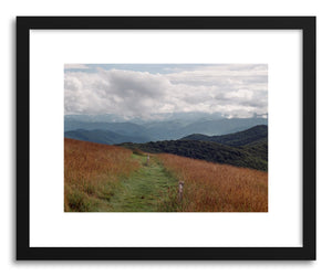 hide - Art print North Carolina Mountains by artist Kevin Russ in white frame