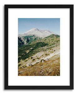 hide - Art print St Helens by artist Kevin Russ in white frame
