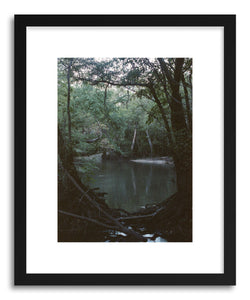 hide - Art print Swampland by artist Kevin Russ in white frame