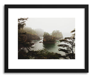 hide - Art print Washington Coast by artist Kevin Russ in natural wood frame