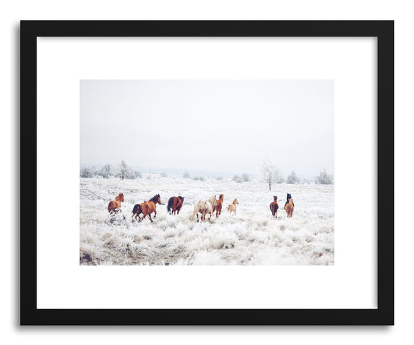 Fine art print Winter Horse Run by artist Kevin Russ
