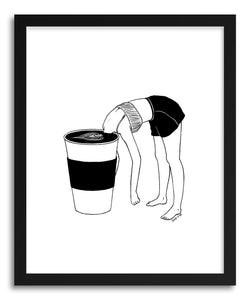 Fine art print Coffee First by artist Henn Kim
