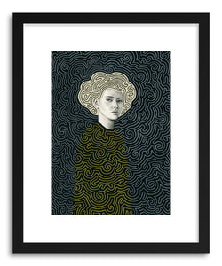 hide - Art print Vlada by artist Sofia Bonati in natural wood frame