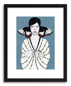 hide - Art print Mila by artist Sofia Bonati in white frame