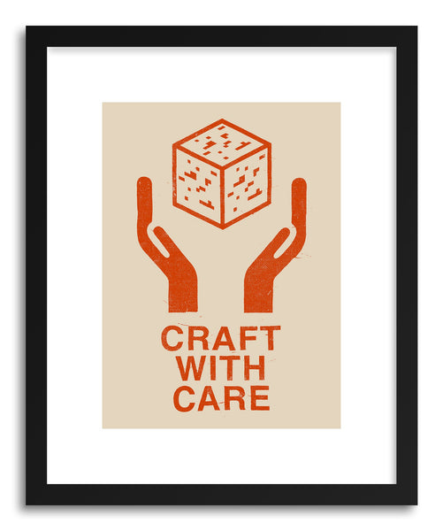 Fine art print CRAFT WITH CARE No.1 by artist Florent Bodart