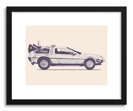 Fine art print Delorean by artist Florent Bodart