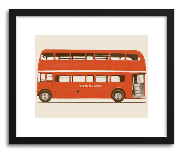 Fine art print English Bus by artist Florent Bodart