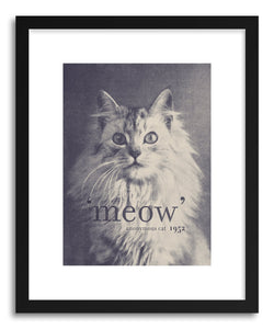 hide - Art print Famous Quote Cat by artist Florent Bodart in white frame