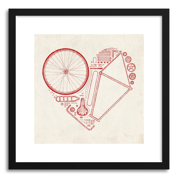 Fine art print Love Bike No.2 by artist Florent Bodart
