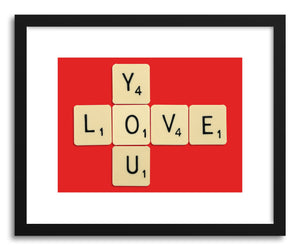 hide - Art print Love You Bodart by artist Florent Bodart in white frame