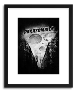 hide - Art print Parazombies by artist Florent Bodart in white frame