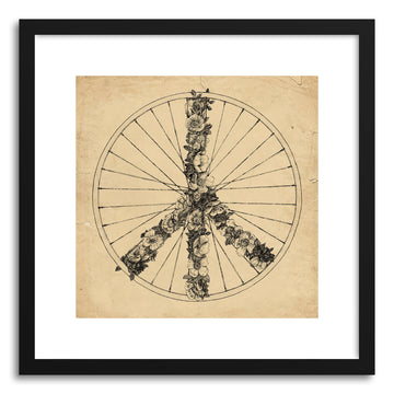 Fine art print Peace And Bike Lines by artist Florent Bodart
