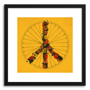 Fine art print Peace And Bike Yellow by artist Florent Bodart
