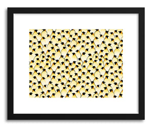 hide - Art print Penguins by artist Florent Bodart in natural wood frame