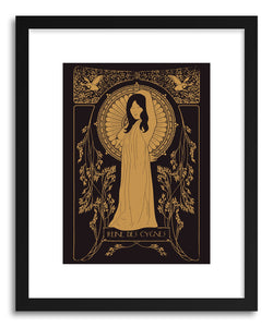 hide - Art print Reine Des Cygnes Golden by artist Florent Bodart on fine art paper