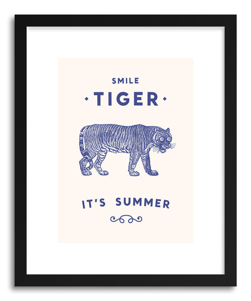 Fine art print Smile Tiger Main by artist Florent Bodart
