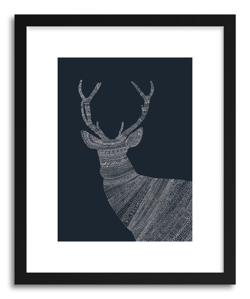 Fine art print Stag Blue by artist Florent Bodart